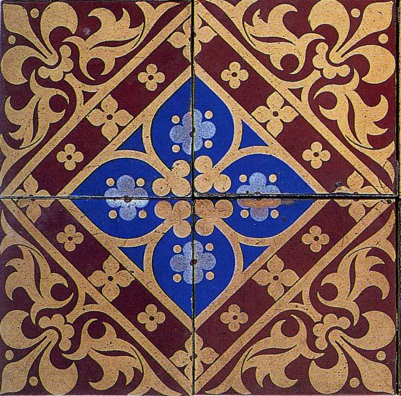 the textile blog: Ceramic Tile Designs by A W N Pugin