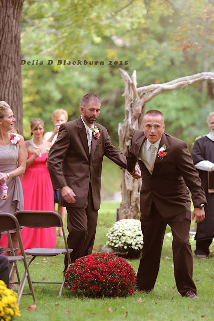 Father Of This Lovely Bride Stopped The Wedding To Invite Stepdad To Walk Down The Aisle With Them!