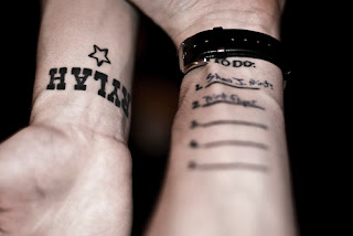 Letras tatuagens