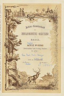 share certificate of the Basel Zoo