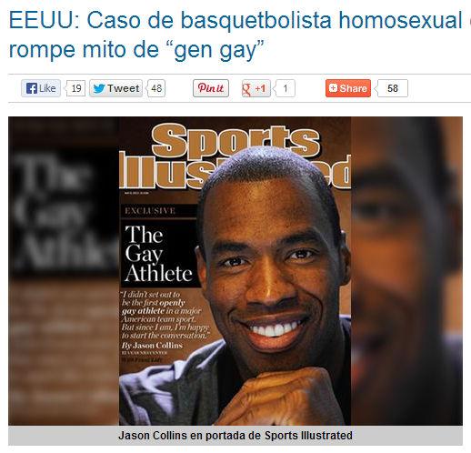 """EEUU: Caso de basquetbolista homosexual de la NBA rompe mito de """"gen gay"""""""