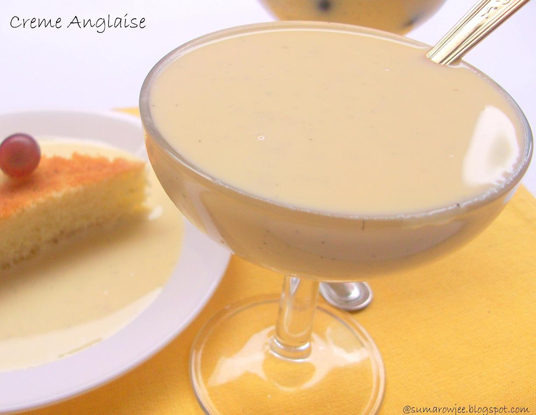 Creme Anglaise / English Custard Sauce / Homemade Custard Sauce