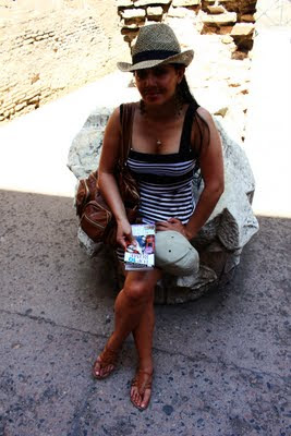Travel Photos Marj Lago indulging the beauty of the Colosseum Rome Italy