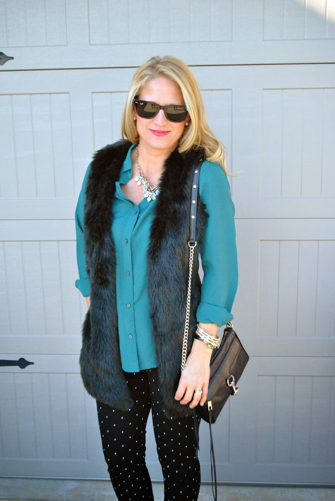 Old Navy Pixie Pants Rebecca Minkoff Mini Mac Bag Fur Vest
