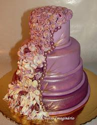Bolo Decorado Lavender Love