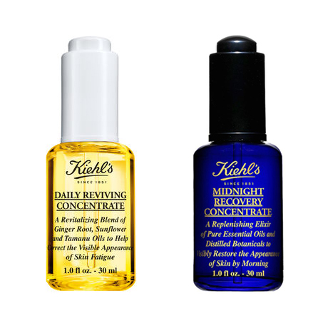 Kiehl's Daily Reviving Concentrate & Midnight Recovery Concentrate Serum - beauty blog