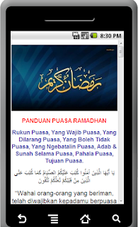 Aplikasi Android Panduan Puasa Ramadhan