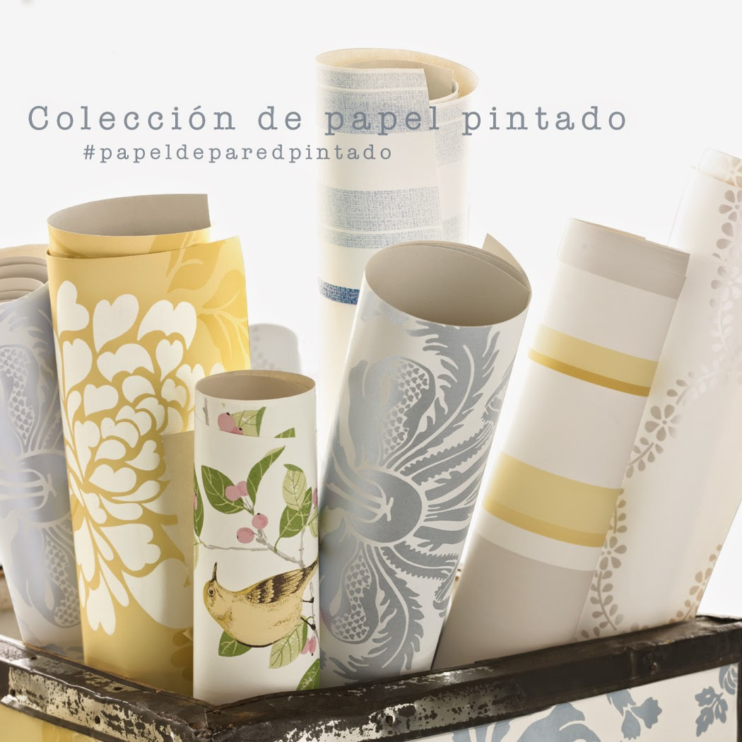 Papel de pared pintado Laura Ashley