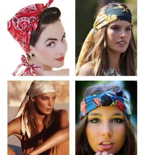 acessórios de cabelos para Carnaval turbantes e lenços