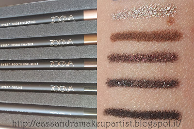ZOEVA - Graphic Eyes+ - Box - Black to Earth - Skyline - Rock 'n' Roll Bride - Desert Traveler - Nude Reflection - Blue Lotus - Female Attraction - Good Karma - Mr. Marvelous - Close to Heaven - inci - ingredienti - prezzo - review - recensione - swatches - swatch