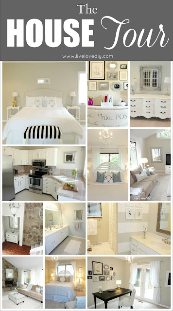 LiveLoveDIY House Tour - tons of easy affordable ideas!