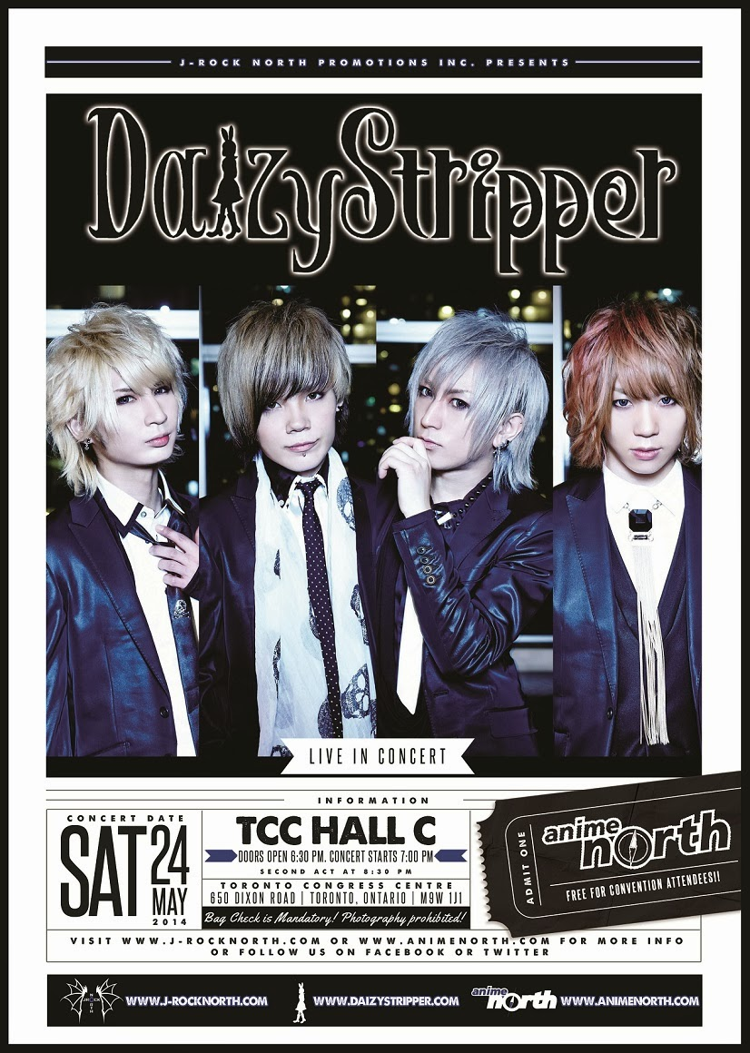 J-rock North Promotions Inc. Presents: DaizyStripper At Anime North 2014