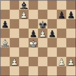 Partida Pomar-Ribeiro en el II Encuentro Ibérico de Ajedrez 1946, posición después de 36.Rd4