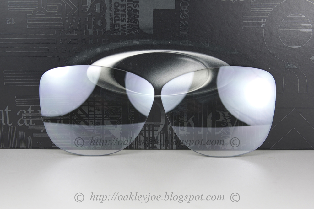 oakley 4 1 replacement lenses p53h  43-420 frogskins replacement lens kit black iridium polarized $150 lens pre  coated with Oakley hydrophobic nano solution