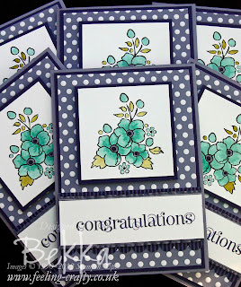 Stampin' Up! Bordering on Romance Congratulations Card by Bekka Prideaux www.feeling-crafty.blogspot.com