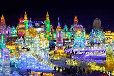 Lanterns, CarvingsIce, Festival, Offbeat, Light, China, Harbin, International, Snow, Heilongjiang, Province, 2014, Opening, Art, Creation, People, Feature,