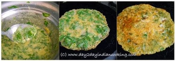 step by step instructions of making fenugreek savory pancakes