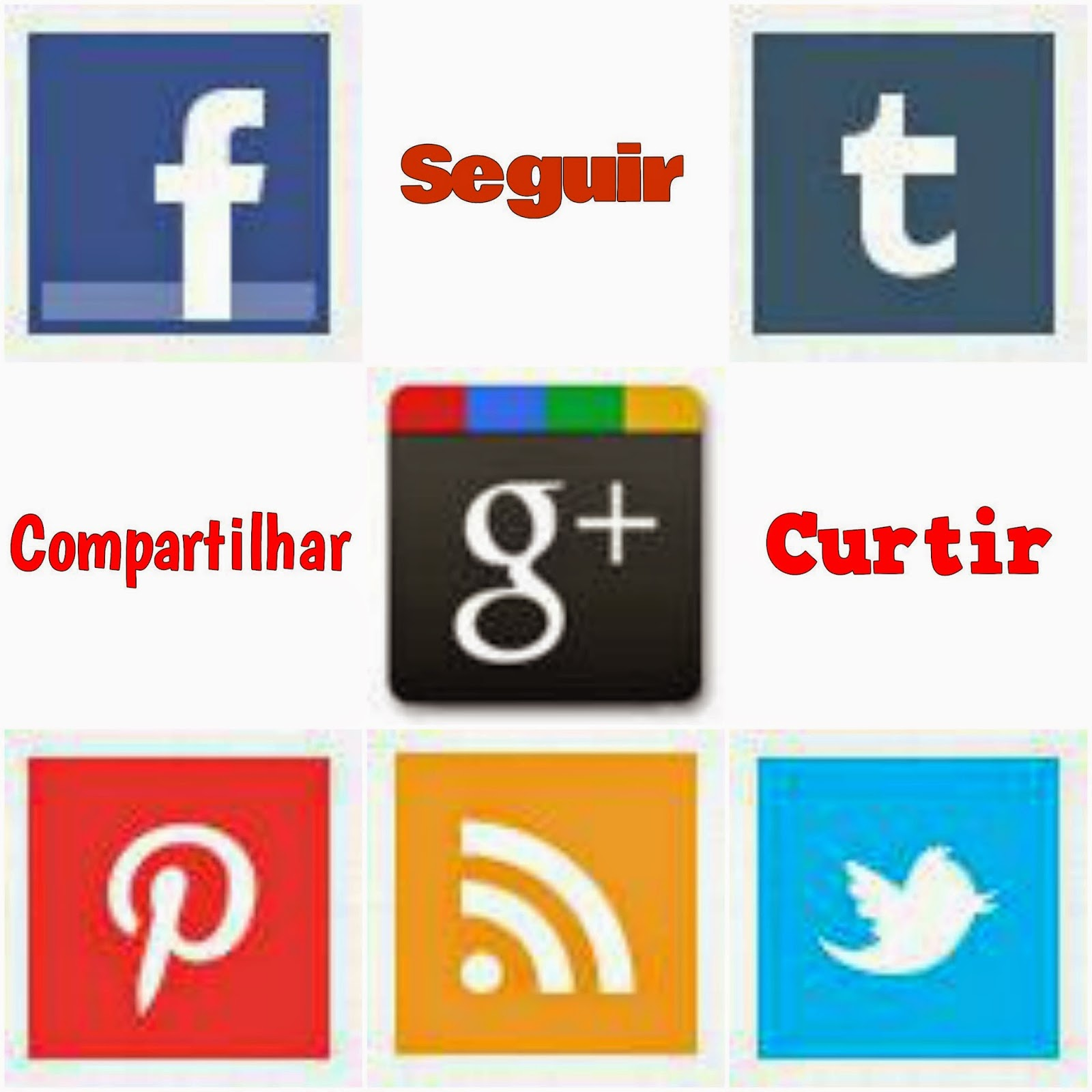 Facebook, Twitter. Google Plus, Tumblr, Pinterest, feed