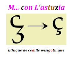 """L'AMODIATION DU """"M"""" à l'italienne en italique..."""