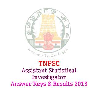 TNPSC Assistant Statistical Investigator Answer Keys