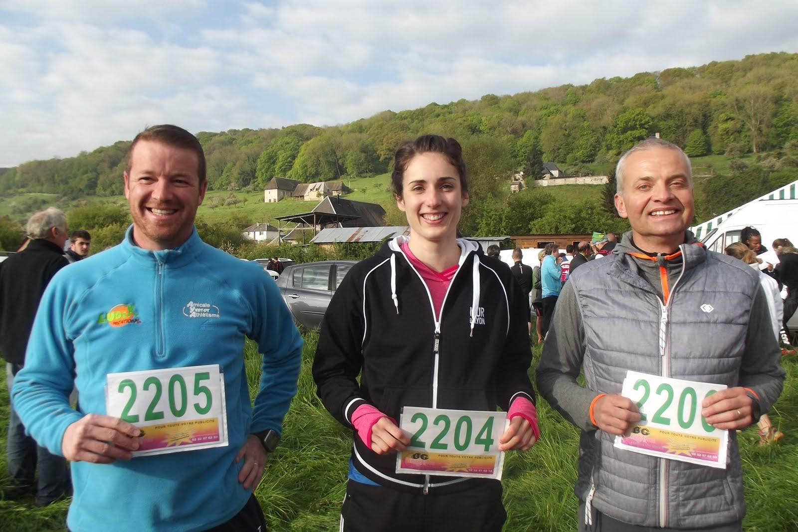 sébastien(2205)pauline et françois engagés sur le 21,1km