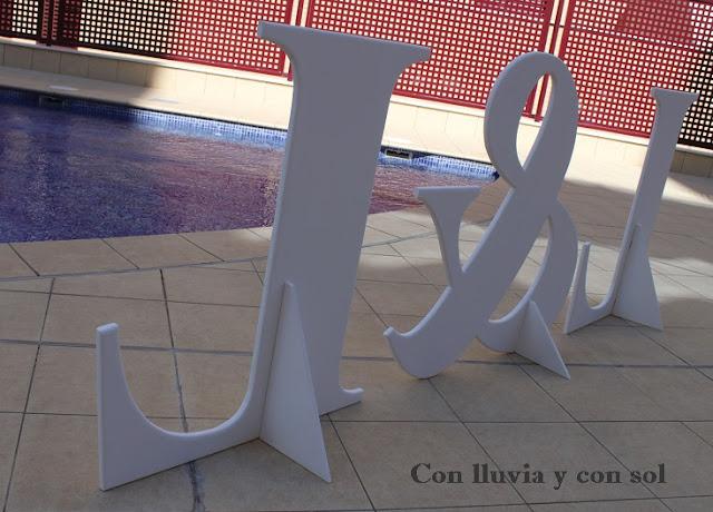 Decoracion Letras Boda ~ Ya sab?is que estaremos encantados de atenderos en conlluviayconsol@