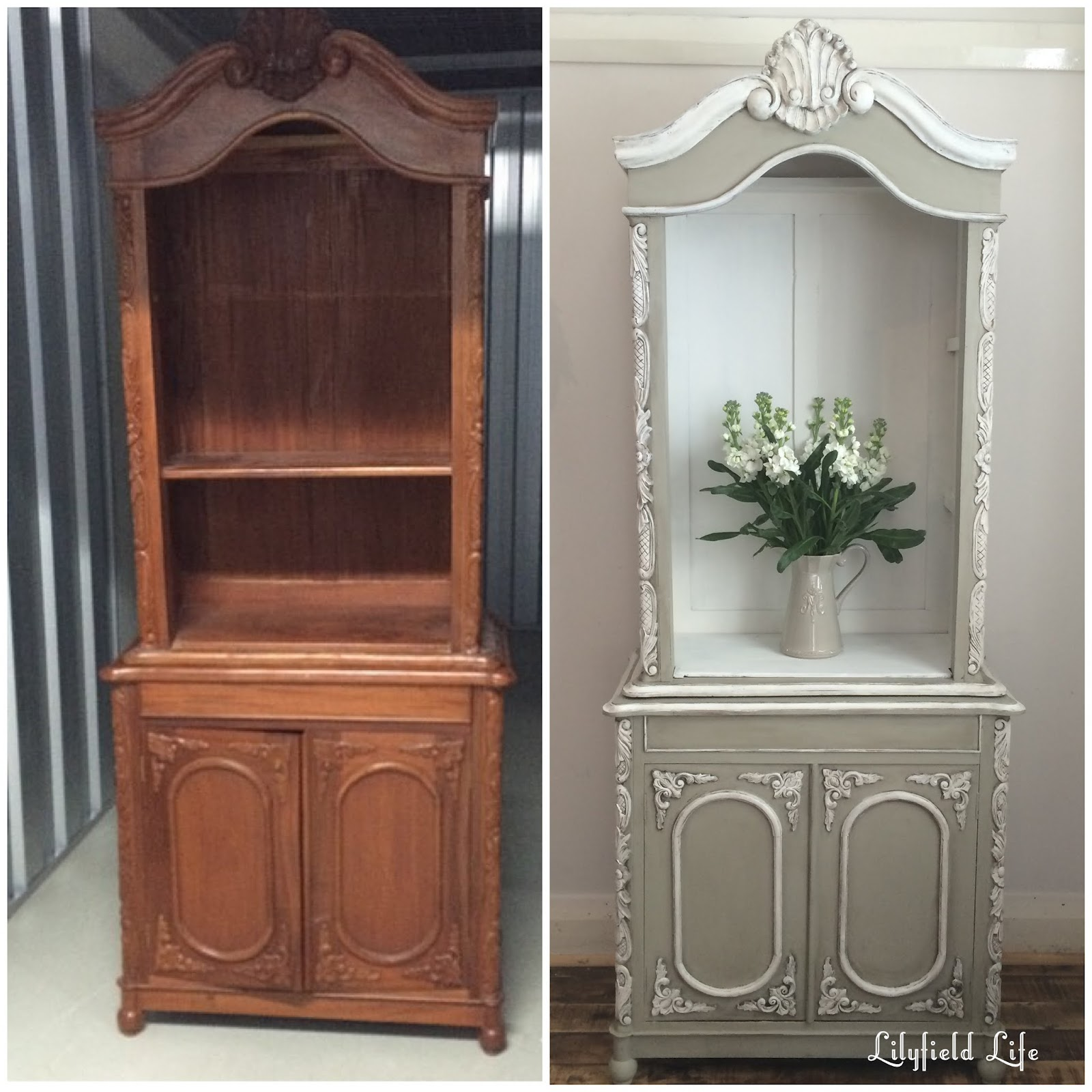 Lilyfield Life: Before and After: Hand painted French Style Cabinet