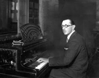 Stravinsky at the piano