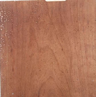 wisno wood furniture finishing: Crater in the wood finishing
