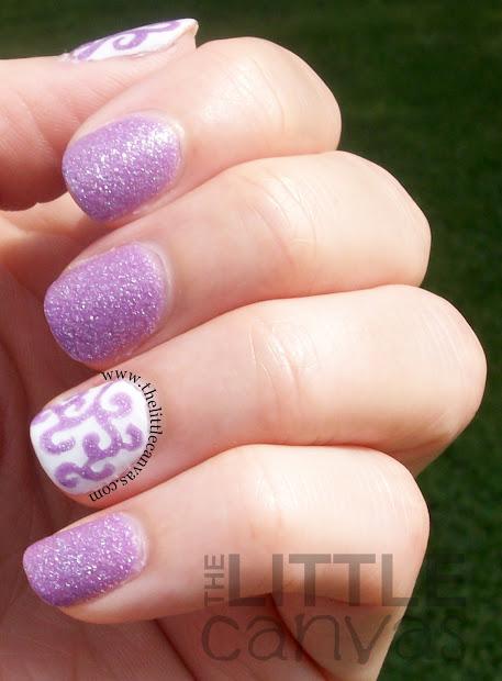 zoya stevie curly- nail art