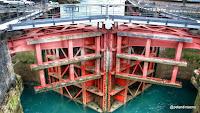 Compuertas de la esclusa de la Central Mareomotriz de La Rance