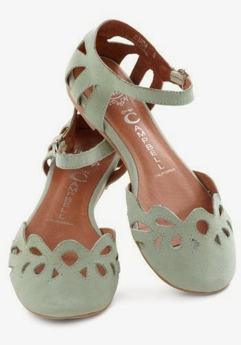 Adorable Mint Color Flats