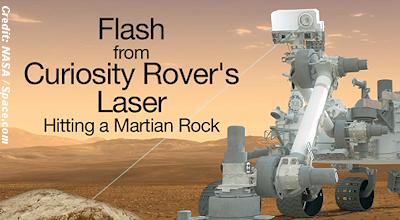 Laser Sparks Fly on Mars