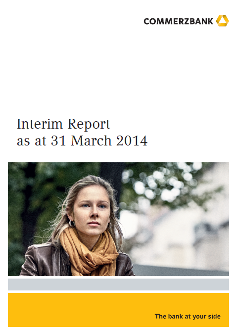 Commerzbank, Q1, 2014, report, front page