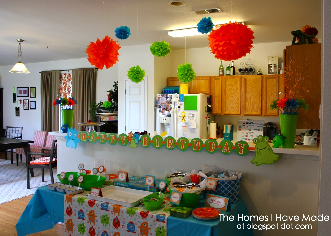 A monster of a first birthday party the homes i have made for 1st birthday decoration pictures