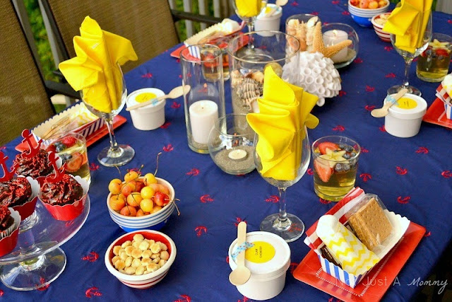 Starfish And Stripes: Nautical 4th Of July Tablescape
