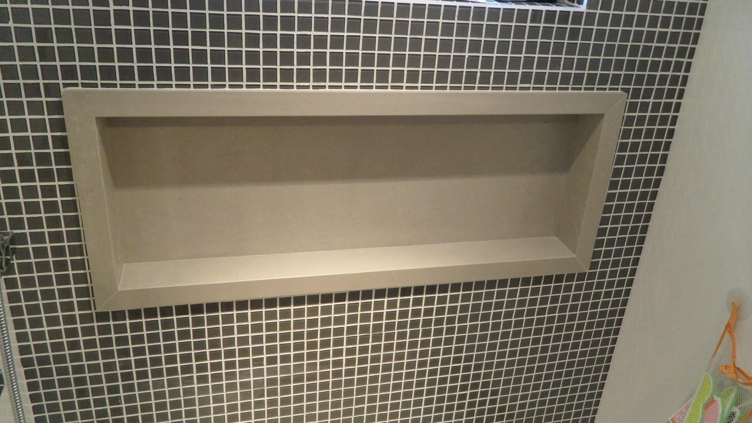 Para a suíte pretendo fazer um nicho com esse acabamento em  #836E48 1536x864 Acabamento De Banheiro Com Nicho