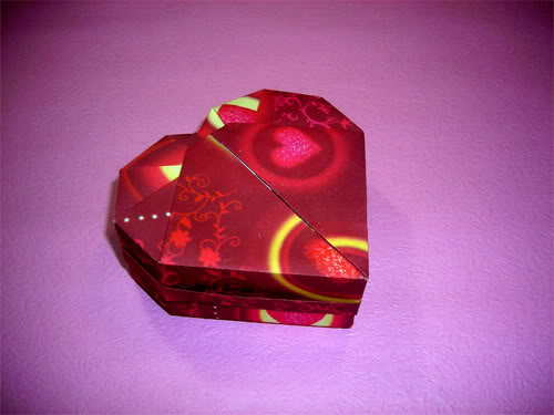 how to make a heart shaped box origami