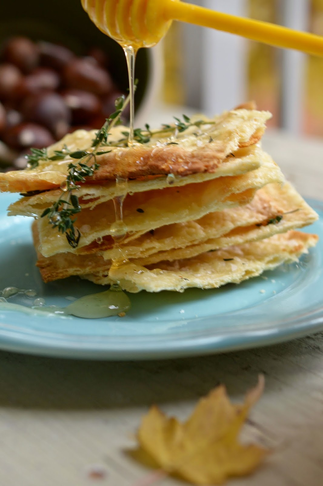 ... Supper Club with Crisp Flat Breads with Honey, Thyme and Sea Salt