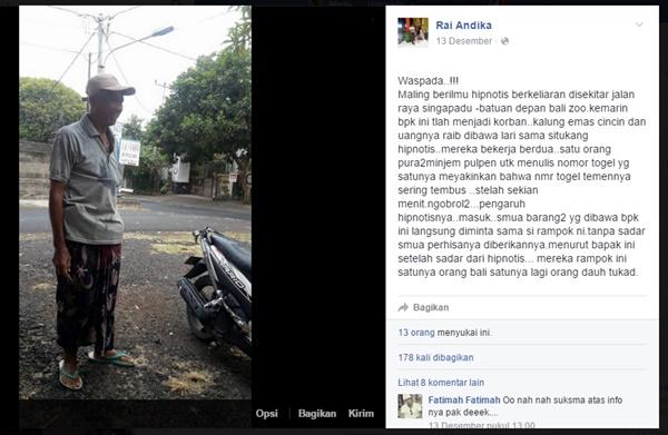 Hati-hati Modus Penipuan dengan Hipnotis di Bali