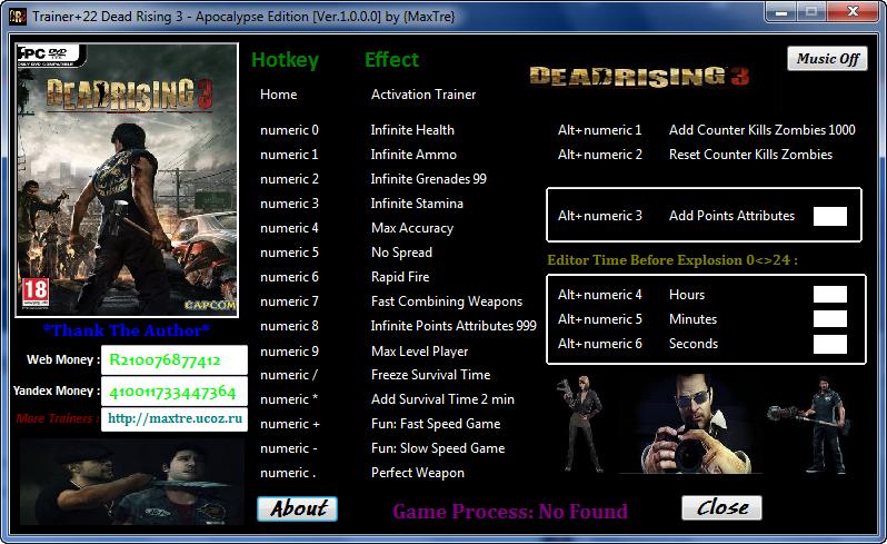 PC Trainers By Mr.AntiFun: DEAD RISING 3 APOCALYPSE ...