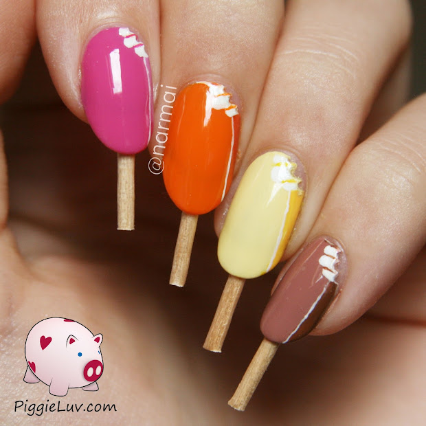 piggieluv magnum ice cream nail