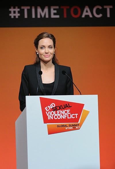 UN goodwill ambassador Angelina Jolie
