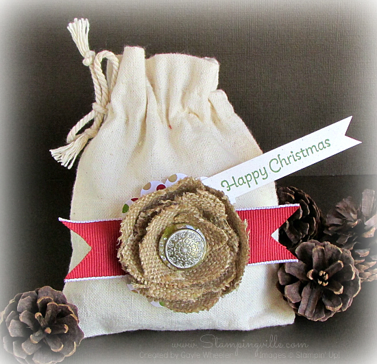 Stampin' Up! Mini Muslin Bag