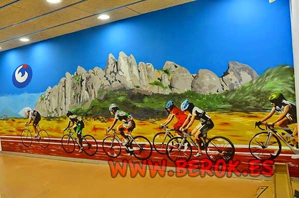 Mural interior para gimnasio Esportiu Claret