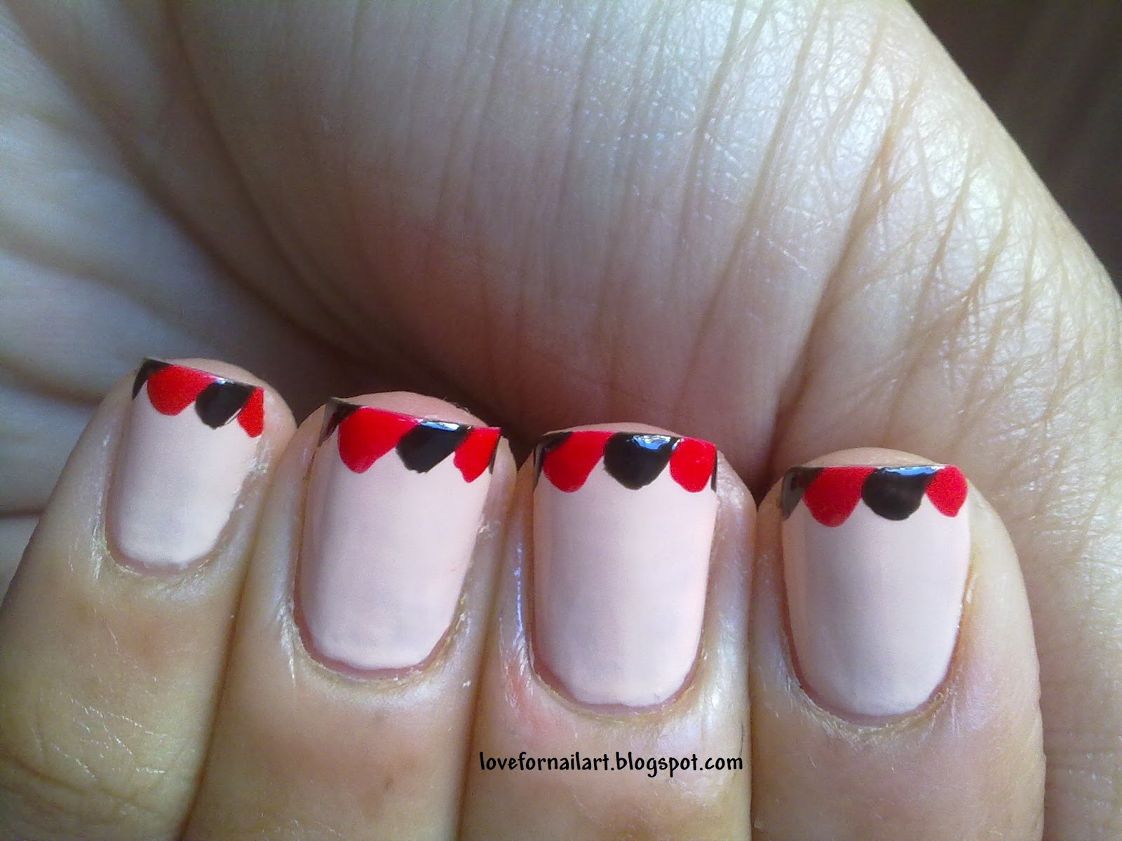 Love For Nail Art French Tips With A Twist Day 14 April 30 Day