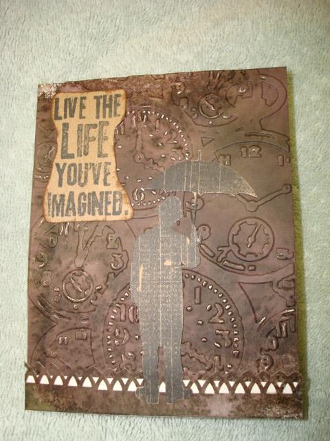 Mrs swandog 39 s blog umbrella man tim holtz style for Tim holtz craft mat