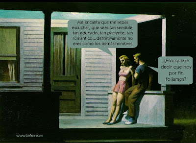 summer, evening, Edward Hopper, le frère