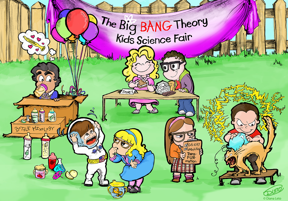 Diana Leto Big Bang Theory Kids Science Fair
