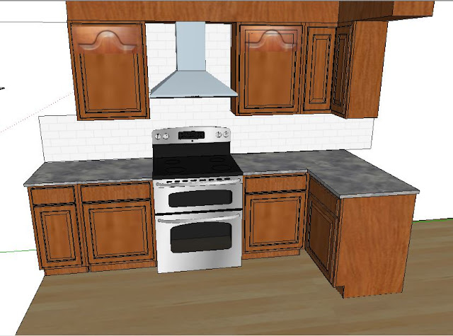 modern kitchen mock up